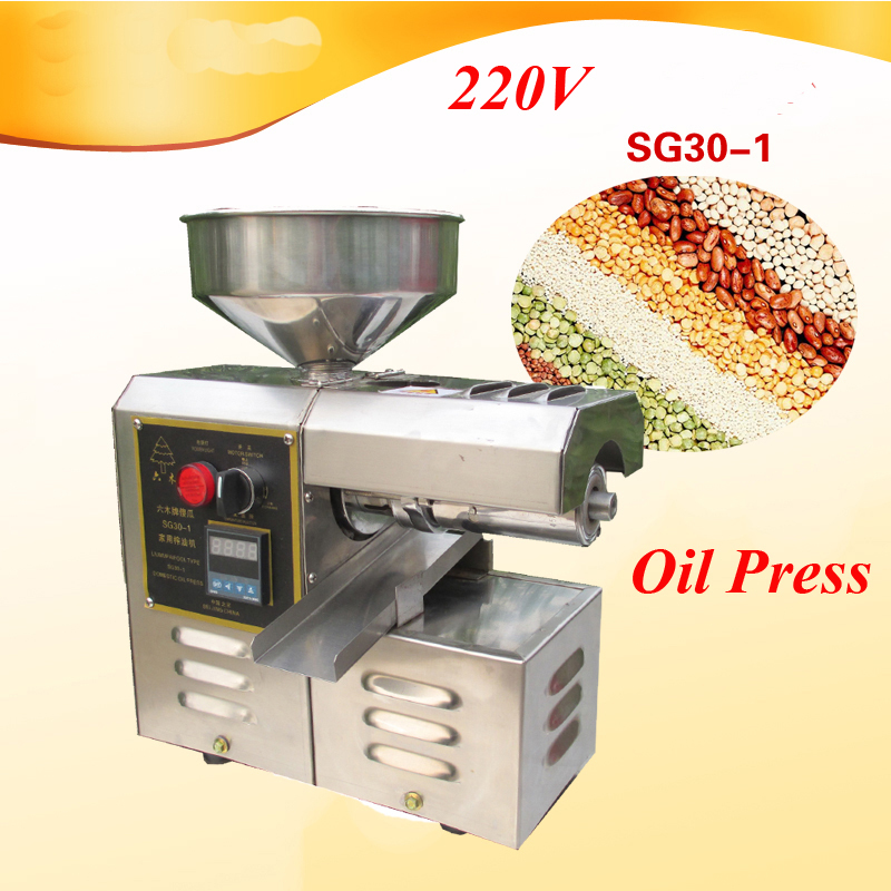 Commercial Peanut Oil Press 250W 220v Automatic Hot/Cold