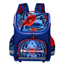 Primary Children Spiderman School Bags 2016 Kids Cartoon Backpack Boy Student Waterproof Orthopedic Schoolbags QY-839