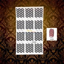 1 Sheet Charm Women Nail Foil Vinyl DIY Image Triangle Gem Hollow Pattern Nail Art Stencil