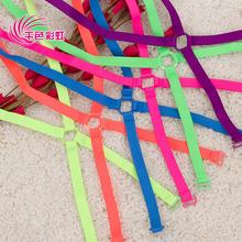 1 cm doces Neon cor sólida ombro elástica alça do sutiã de volta cruz sutiã cueca slip-resistente com/Moda alça do sutiã
