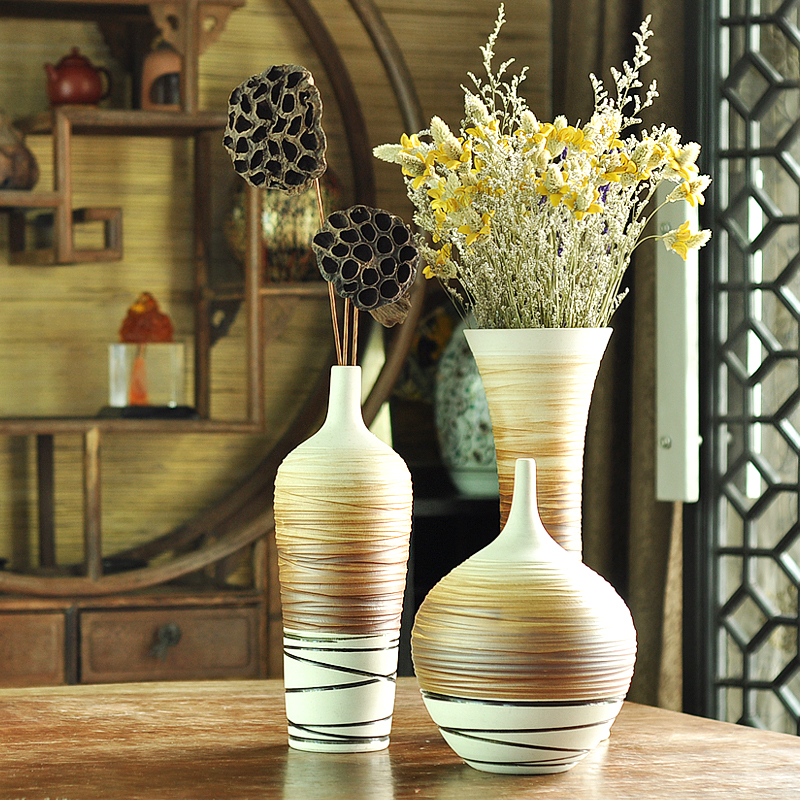 Vases Home Decor: Home-decor-Ceramic-modern-fashion-brief-floor-vase-set