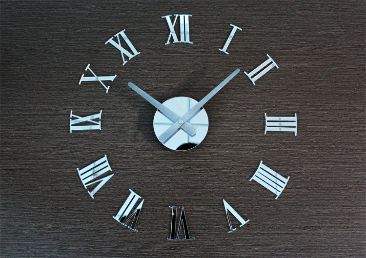 European 3D DIY Roman numerals minimalist living room large fashion art  clock creative watch feb6cbc32929