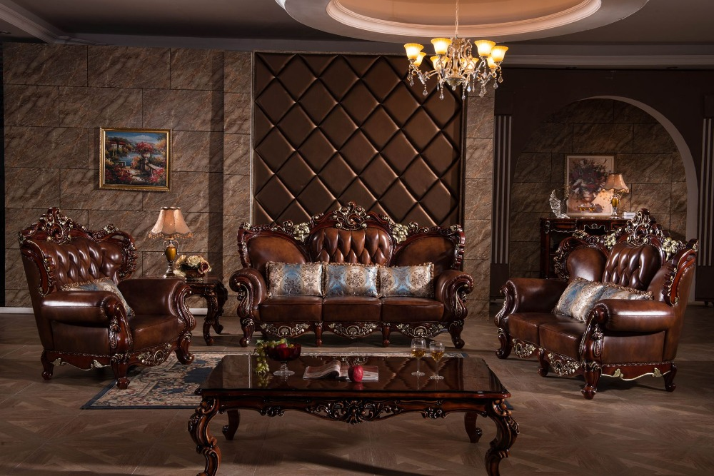 Luxurious Italian Leather Living Room Furniture: Lizz Antique Chesterfield Sofa And Lounge Suit Luxury