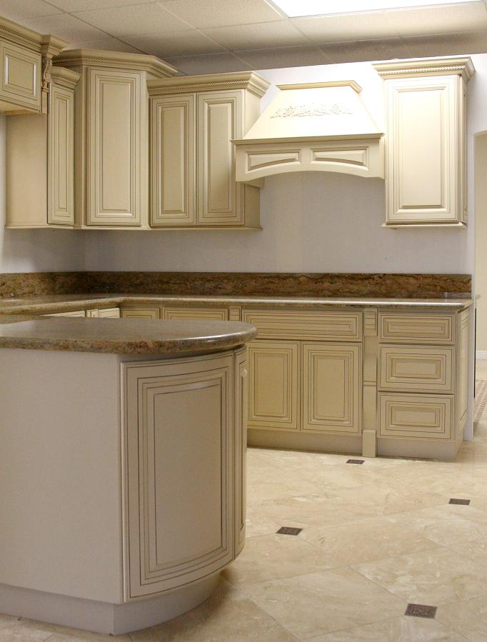 Kitchen Cabinets-antique White Glaze