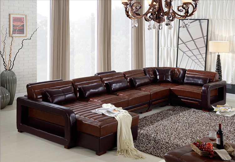 Best Price European Style Heated Genuine Leather 7 Seater