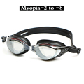 Adult Prescription Optical Myopia Swimming Goggles Swim Silicone Anti fog Coated Water diopter Swimming Eyewear glasses