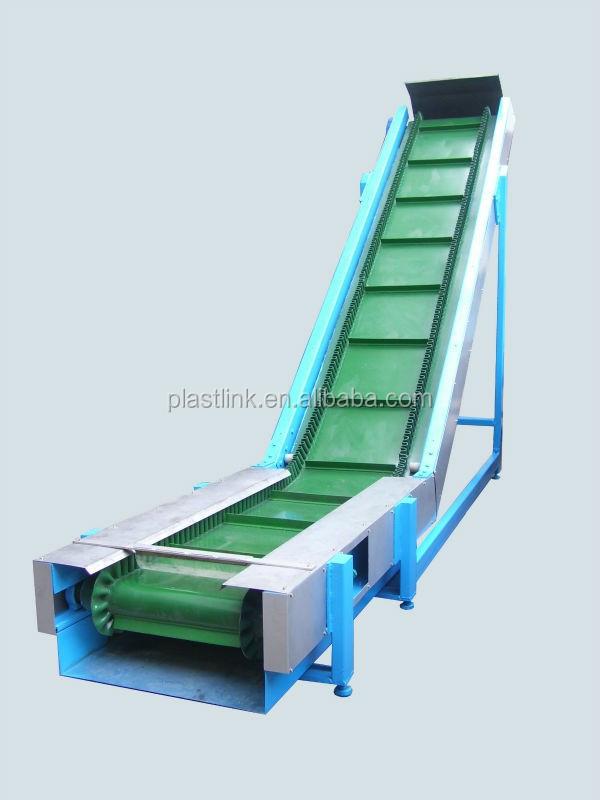 大角度傾斜ベルトコンベアシステム調整可能な高さpvcベルト低 ...