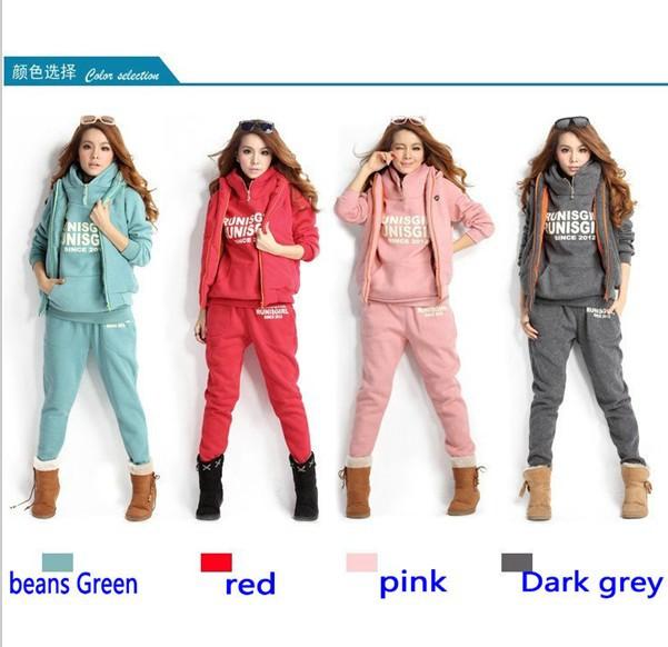82e688f17b 2019 Womens Fashion Trends Elegant Sports Hoodies Coat+Vest+Pants ...