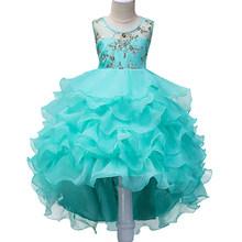 Платье с цветочным узором для девочек вечерние платья на свадьбу детское торжественное платье подружки невесты, платье принцессы для мален...(Китай)