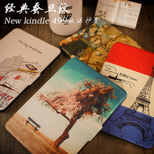 "for amazon 2014 new kindle touch screen 7 7th generation 6"" ereader slim protective cover smart case+protector film+stylus"