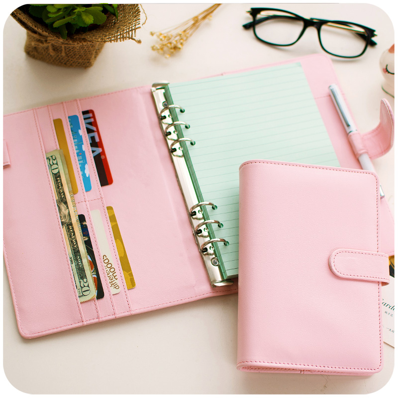 Korean Fashion A6/A5 Ring Binder Leather Notebook Notepad
