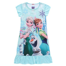 New 2015 summer style Anna&Elsa dress children clothing girls dress kids girls princess deress girl party dresss nightgown