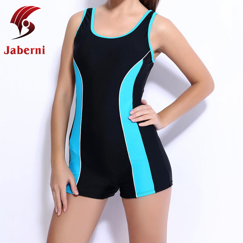c943935bb2217 Women Professional One Piece Boxer Swimwear With Shorts Sexy Sport  Racerback Swimsuit Beachwear Chic Athleta Race Bathing Suit