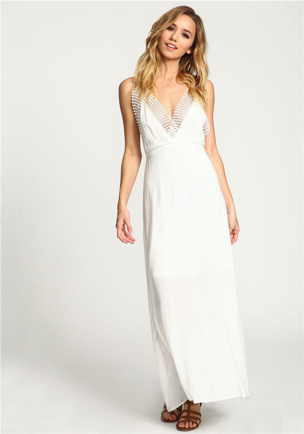 664ee0b1b9 Turmec » v neck backless maxi dress