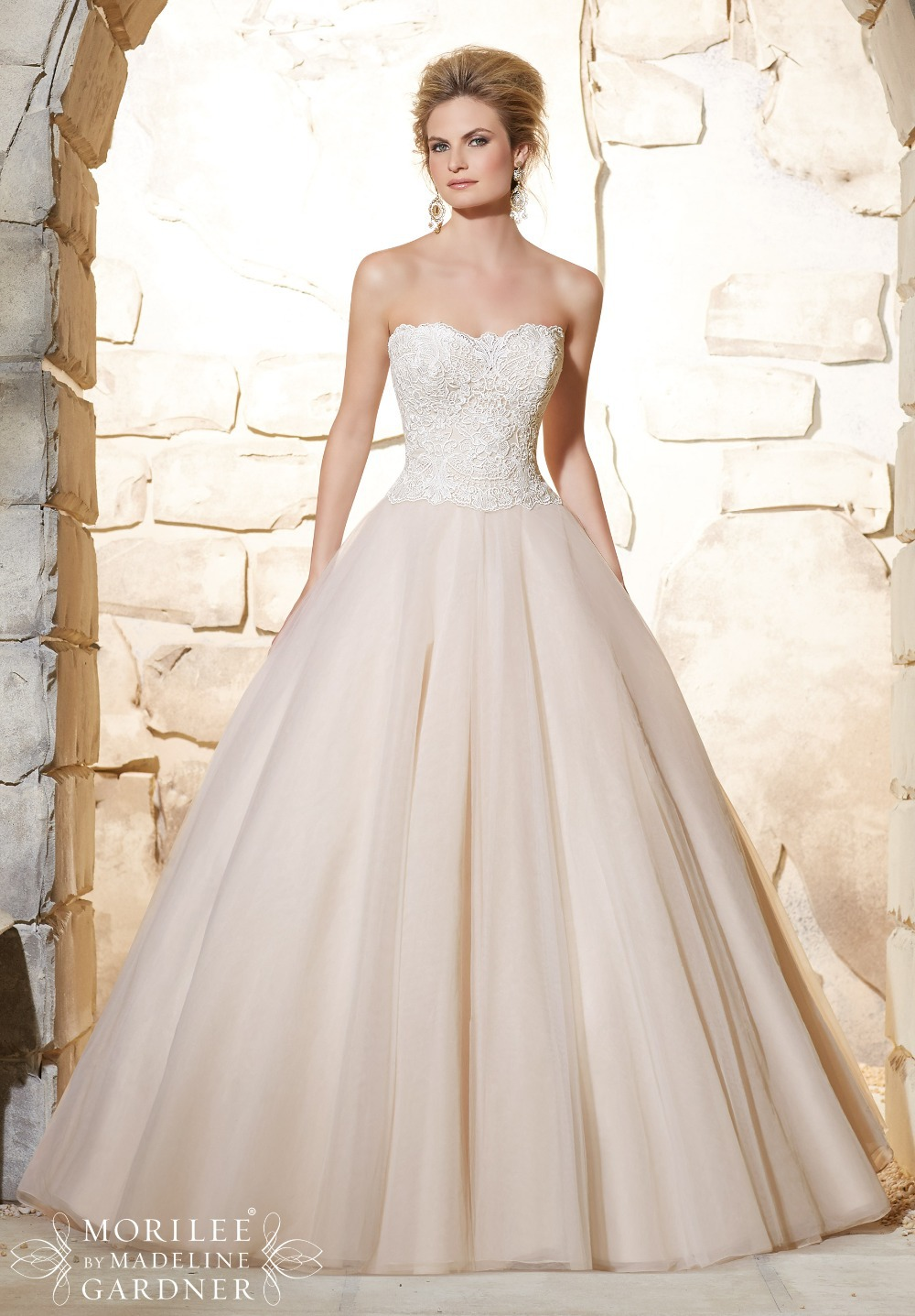 Champagne Ball Gown Organza Wedding Dresses – fashion dresses 42be1e0257bb
