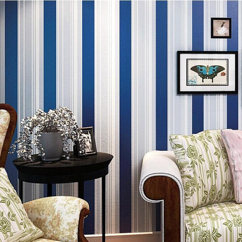 Modern Child Real Living Room Walls Wallpaper Blue Red And