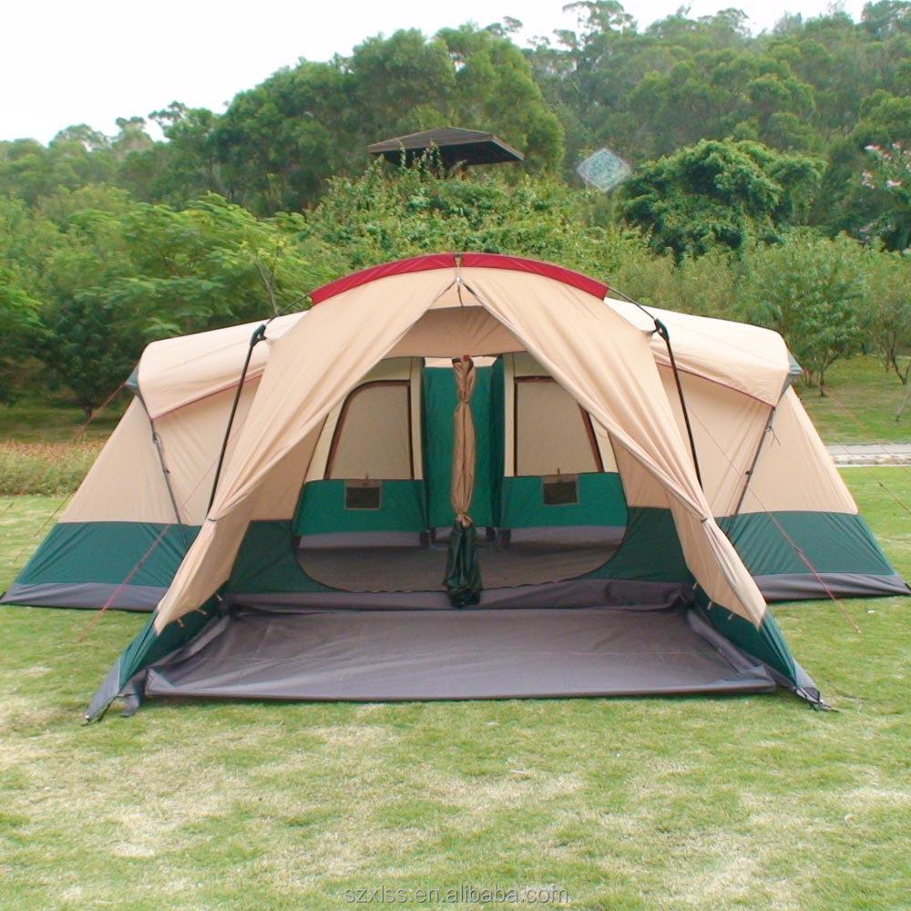 personnes 6 3 chambre camping safari de luxe tente pour. Black Bedroom Furniture Sets. Home Design Ideas