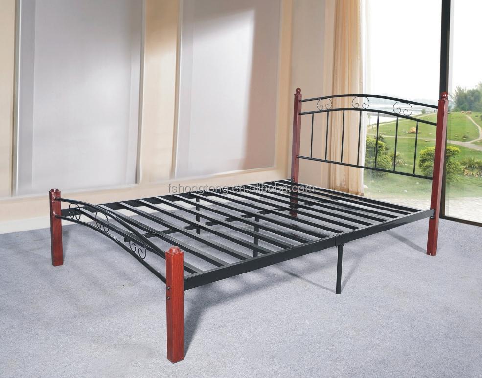 cadre de lit en m tal 50mm 100x41x51cm mod le 7312q pour mobilier de chambre lit en m tal id du. Black Bedroom Furniture Sets. Home Design Ideas