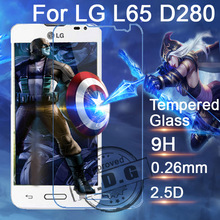 0.3mm 9H Explosion Proof Anti scratch Tempered Glass Film For LG Series III L65 D280 Screen Protector Film + cloth