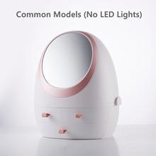 Новинка 2019 светодиодный светильник HD зеркальный косметический чехол для туалетного столика органайзер для макияжа коробка для хранения ко...(Китай)