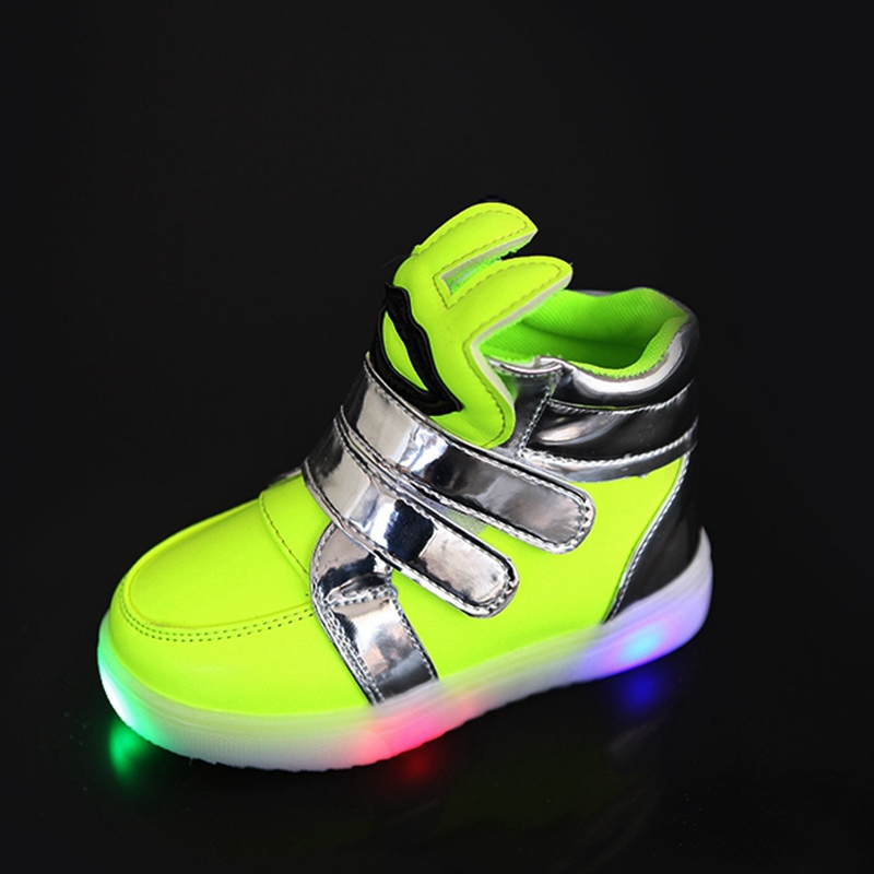 Autumn Winter Warm Children Shoes With Light Candy Color Led Shoes kids Sneakers Boys Girls Chaussure