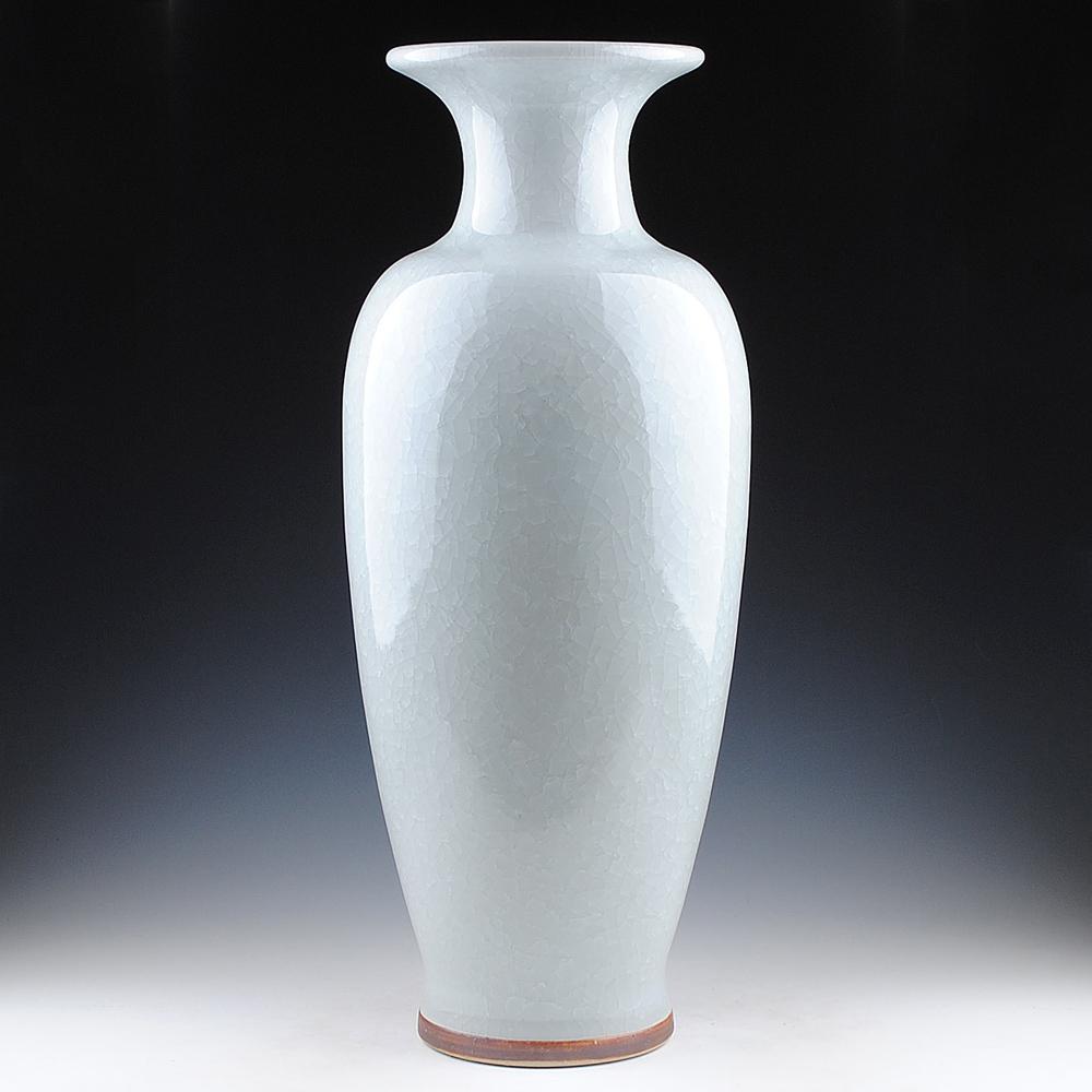 Jingdezhen ceramics porcelain antique French Open vase fishtail modern living room decoration large Home Furnishing