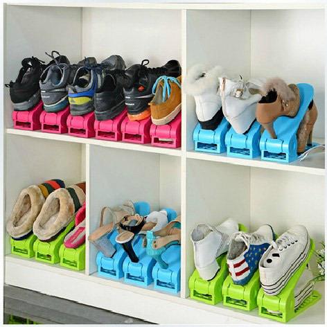 2pcs lot shoes rack shoes organizer space saving shoes tree stand shoe storage holder adjustable. Black Bedroom Furniture Sets. Home Design Ideas