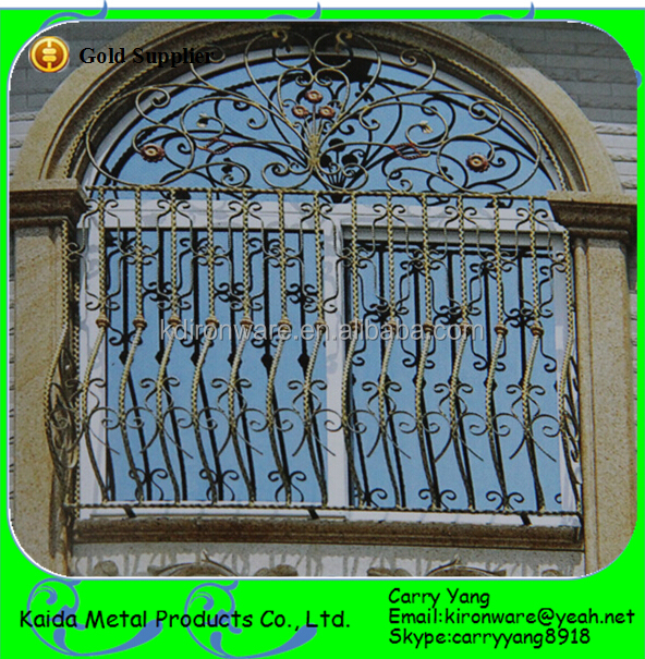 Simple Wrought Iron House Window Grill Design, View Window