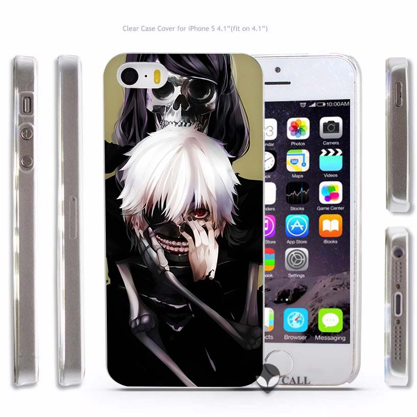 Anime Tokyo Ghouls Hard Transparent Phone Case Cover Coque For Apple Iphone 4 4S 5 5S SE 5C 6 6S 7 Plus