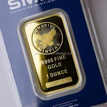 Gold Plated Bullion Bars Gold Plated Bullion Bars
