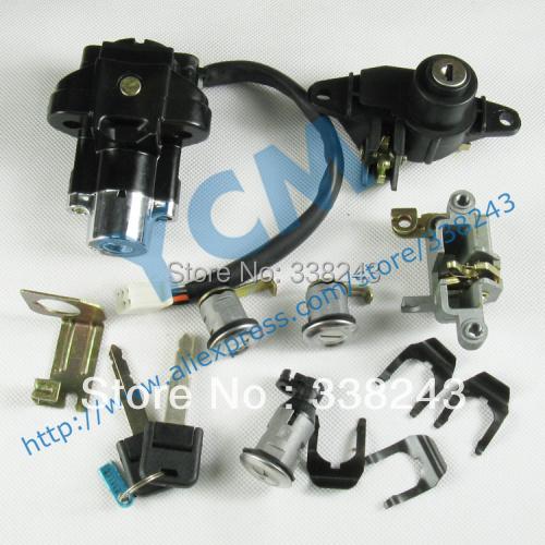 Мотоцикл скутер комплект блокировки, Комплект ключей, Ts-yyzx-t3, Бесплатная доставка