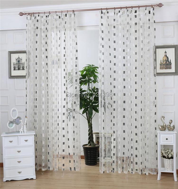 balcon sheer rideau produit fini nid d 39 oiseau br ve compartimentage rideaux de fen tre blanc. Black Bedroom Furniture Sets. Home Design Ideas