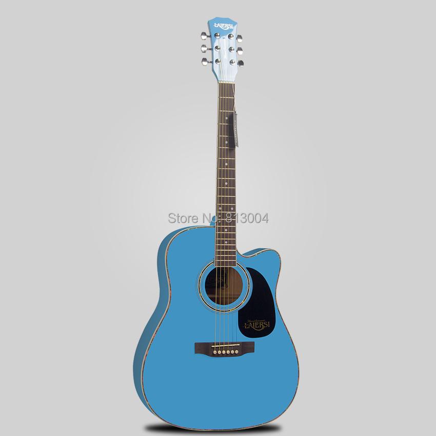 free shipping 41 inch length 102 cm blue rhythm guitar