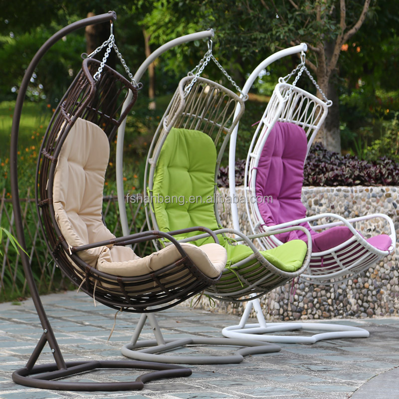 Dirty Pro Tools White Colour Rattan Swing Chair Outdoor Garden