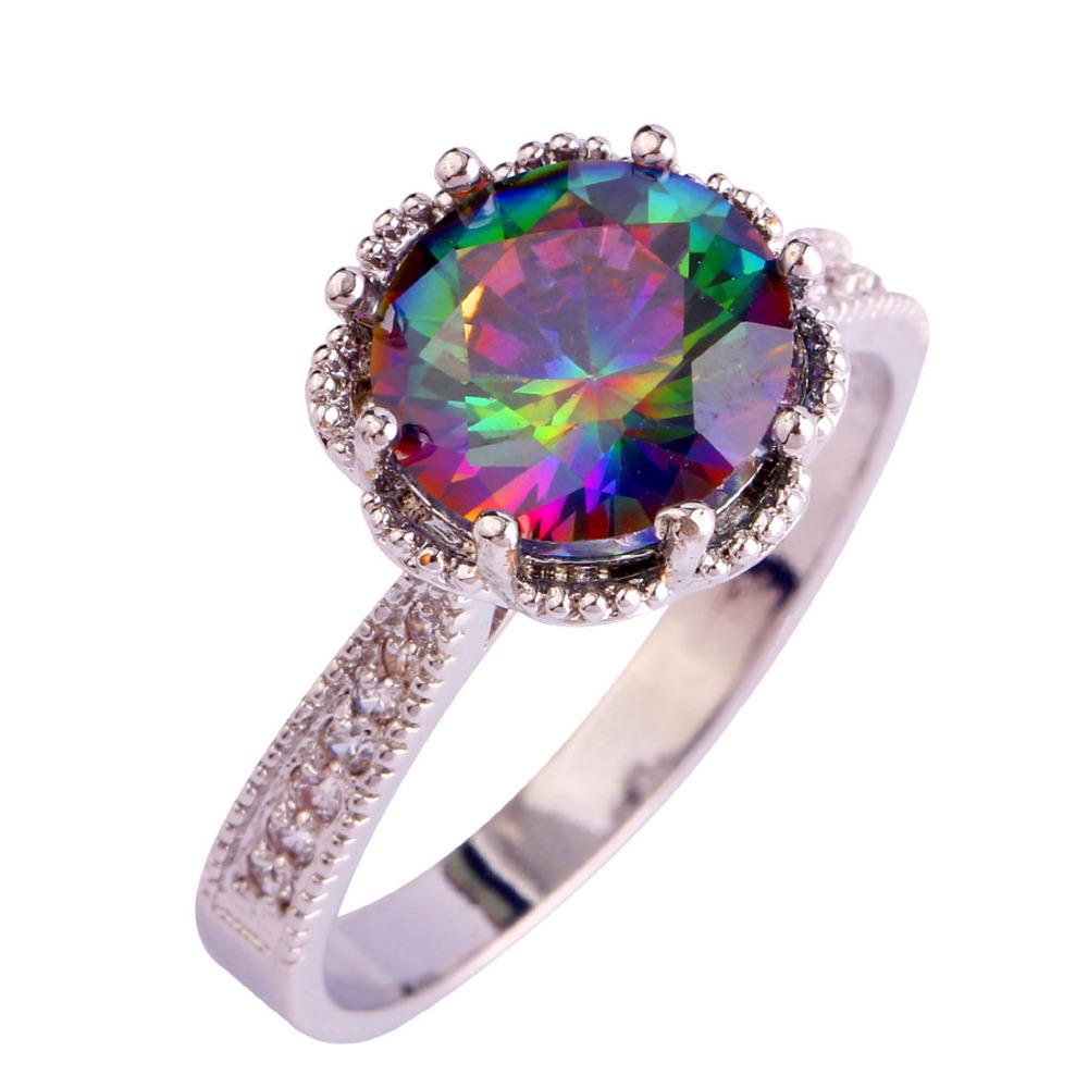 Aliexpress.com : Buy Fascinate Jewelry Round Cut Mystic