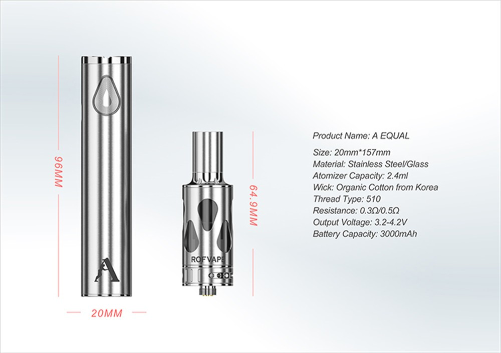 Rofvape A Equal Mini Vape Pen Kit 3000mAh 60W Mechanical Mod E