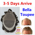 Bella toupee Slight Wave Medium Light Mens Hair Piece Toupee Best Quality Can be Cut Down