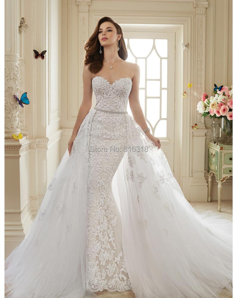 2013 Wedding Gowns Detachable Train: Vestidos De Novia 2016 Viintage Lace Sexy Mermaid Wedding