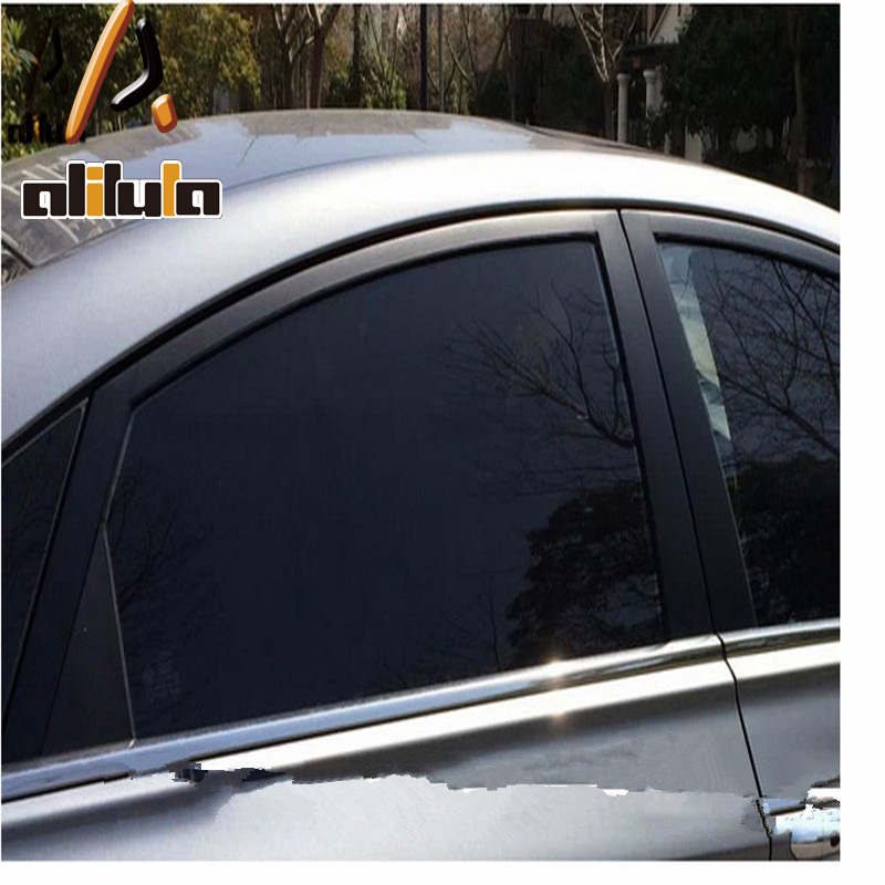 reusable removable static film solar auto window film tint anti glare film for glass in stickers. Black Bedroom Furniture Sets. Home Design Ideas