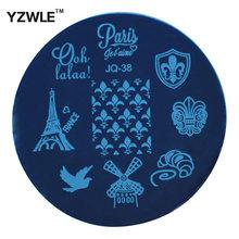 Yzwle 1 Pcs chapa de aço inoxidável Stamp estamparia imagem placas DIY Manicure Template prego ferramentas polonês ( JQ-38 )