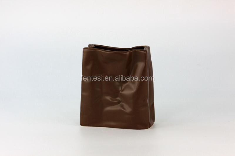 Wholesale Cheap Different Color Decorative Paper Bag Vase Set Buy Small Ceramic Vase Hot Sale
