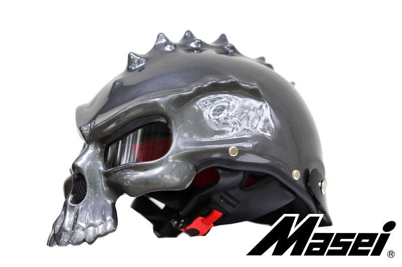 Masei 489 Dual Use Skull Motorcycle Helmet Novelty Casque Motorbike Helmet ABS 2