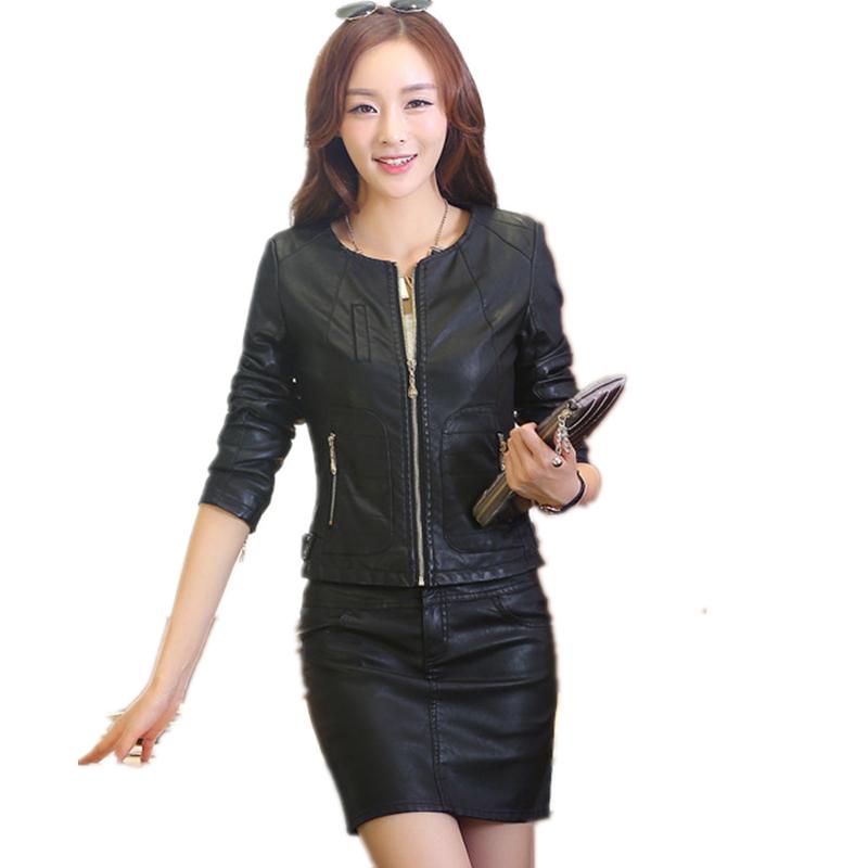 M - XXXL женщины натуральная овчина кожа верхняя одежда весна короткая дизайн кожа куртка женщины приталенный кожа