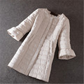 Autumn Winter Women Long Slim Jacket Fashion Korean Female Cotton Overcoat A Line Flare Sleeve mujer