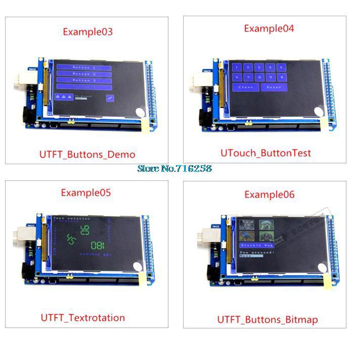 Free shipping! 3 2 inch TFT LCD screen module Ultra HD 320X480 for Arduino  MEGA 2560 R3 Board