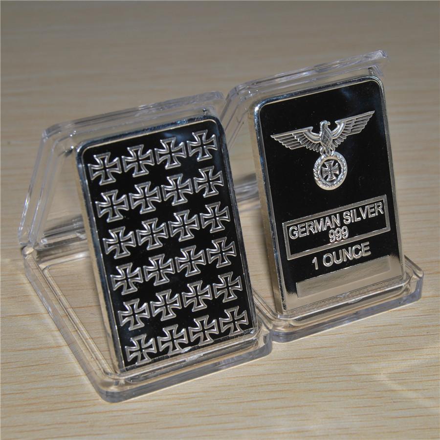 German Coin Collection 1oz 999 Silver Bar With Eagle Coin High Quality Free Ship