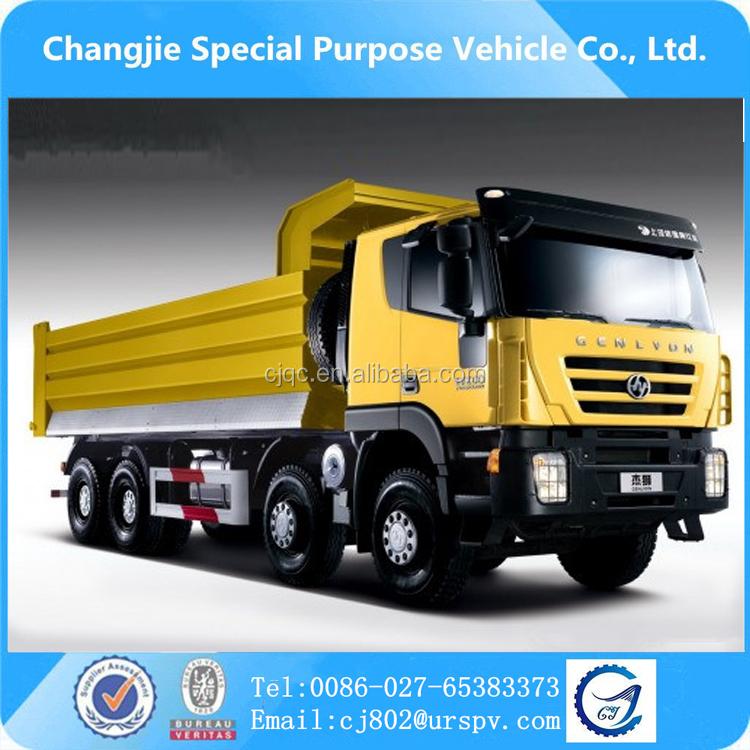 Craigslist Cabover Freightliner: Hongyan Genlyon Dump Truck Sale In Dubai 8*4 Heavy Tipper