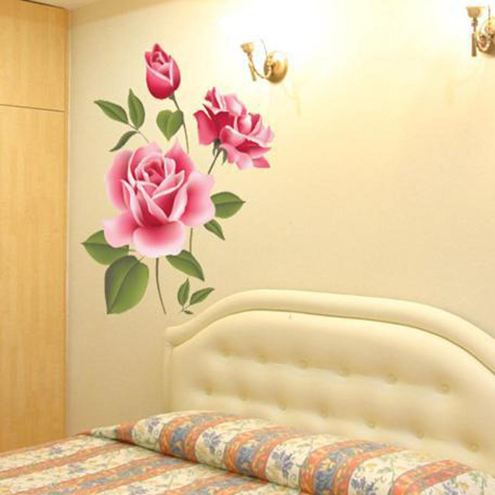 House warm decoration Rose Flower Removable Wall Sticker Home Decor wallpaper room beauty your house