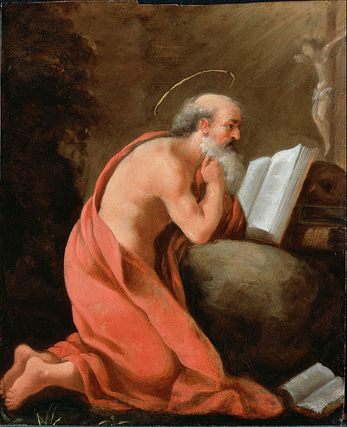 Canvas Art Prints Stretched Framed Giclee World Famous Artist Oil Painting <font><b>Italian</b></font> Emilian St Jerome In Penitence