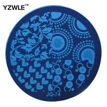Yzwle 1 Pcs chapa de aço inoxidável Stamp estamparia imagem placas DIY Manicure Template prego ferramentas polonês ( JQ-74 )